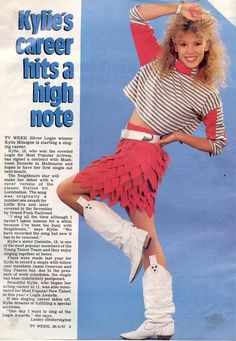 Kylie Minogue 1987 - there's that skirt again !