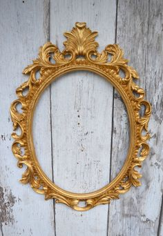 Oval Picture Frame Large Ornate Baroque Fancy by WestofChelsea