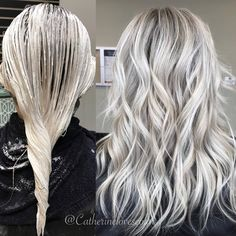 Gray Wig Lace Frontal Wigs Indian Gooseberry Powder For Grey Hair Platinum Blonde Hair Frontal Gooseberry Gray grey Hair Indian Lace Powder Wig Wigs White Ombre Hair, Ombre Hair Color, Gray Hair, Hair Colour, Platinum Blonde Hair, Silky Hair, Hair Highlights, White Blonde Highlights, Icy Blonde