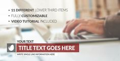 Buy Clean and Modern Lower Thirds by Red_Box on VideoHive. Clean and Modern Lower Thirds 11 lower third items Works with After Effects CC Change easily: Text, . Lower Thirds, Free Fonts Download, After Effects, Cleaning, Writing, Feelings, Modern, Box, Projects