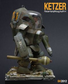 Rocketumblr | Krueger's Krieger Vinyl Toys, Vinyl Art, Tactical Suit, Sci Fi Miniatures, Combat Armor, Shadowrun, War Machine, Dieselpunk, Science Fiction