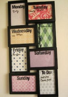Really cool planner idea for the room.