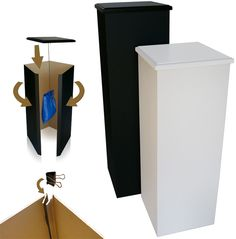 "Affordable Portable Pro  Pedestals 1/8 "" fibre board mdf with vinyl coating"