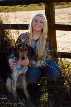 Senior pictures with my dog #hounddog #bluetick