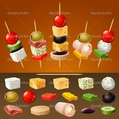 Skewer Appetizers Wedding Appetizers Appetisers Appetizer Recipes Dessert Recipes First Finger Foods Breakfast Crepes Fingerfood Food Design Party Finger Foods, Snacks Für Party, Finger Food Appetizers, Appetizers For Party, Appetizer Recipes, Toothpick Appetizers, Party Food Platters, Fingerfood Party, Christmas Appetizers