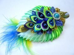 Gorgeous Peacock Hair Clips por AccessoriesShop4you en Etsy