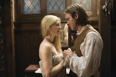 """Stardust (2007) Starring: Claire Danes as Yvaine and Charlie Cox as Tristan Thorn. – """"You want to know what the Captain really whispered to me that day? He told me that my true love was right in front of my eyes. And he was right."""" ~ Tristan"""