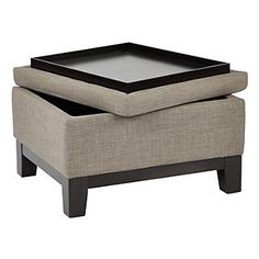 Ave Six Regent Upholstered Storage Ottoman with Reversible Tray farmhouse storage ottoman Gone are the days when decorating was a a single-a. Upholstered Ottoman Coffee Table, Storage Ottoman Coffee Table, Diy Ottoman, Ottoman Table, Ottoman With Storage, Square Ottoman Coffee Table, Couch Storage, Ottoman Ideas, Storage Stool
