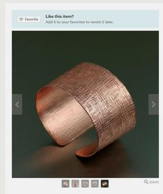 Stunning Linen Copper Cuff Bracelet Listed on #Etsy #Style #Copper https://www.etsy.com/listing/220953437