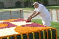PM-designate Shri Narendra Modi paid homage to Mahatma Gandhi at Raj Ghat