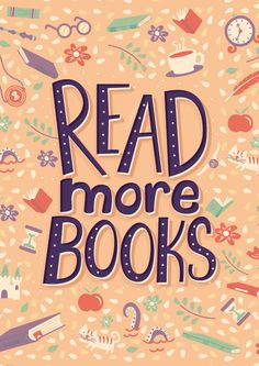 'Read more books' Poster by Risa Rodil I Love Books, Books To Read, My Books, Free Books, Reading Quotes, Book Quotes, Library Quotes, Book Posters, I Love Reading