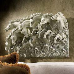 online shopping for Design Toscano Neptune's Horses Sea Sculptural W from top store. See new offer for Design Toscano Neptune's Horses Sea Sculptural W Sea Sculpture, Metal Sculpture Wall Art, 3d Wall Art, Horse Sculpture, Wall Décor, Modern Wall Sculptures, Art Sculptures, Contemporary Metal Wall Art, Modern Art