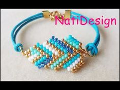 Learn How to use Brick Stitch technique with Delica Beaded Bracelets Tutorial, Bead Loom Bracelets, Beaded Bracelet Patterns, Bracelet Crafts, Beaded Earrings, Bead Jewellery, Diy Jewelry, Jewelry Making, Jewelry Ideas