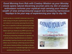 Good Day #Your_Monday_Lets_Go_Mojo excites your maverick optimism energizing your venturesome spirit to experience this Monday with gusto galvanizing ultra splendor tantalizing optimistic elegance dance through your life in bright bold way  My Cowboy Wisdom: http://mycowboywisdom.com/cds-dvds,