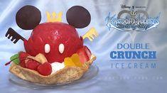 Ice Cream: Double Crunch Command Style: Wingblade (Ventus) Ingredients: Cherryberry x 9 Merry Dairy x 5 Star Syrup x 15 Weddi. Star Cakes, Disney Food, Ice Cream Recipes, Kingdom Hearts, Food To Make, Treats, Snacks, Baking, Breakfast