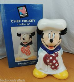 Chef Mickey Cookie Jar made in China by Treasure Craft