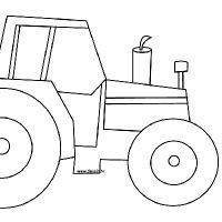 Coloriage tracteur images pour l 39 coles et l 39 ducation - Dessin anime de tracteur john deere ...