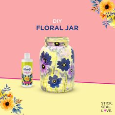 Give a bohemian look to you kitchen décor by decorating your empty jars using decoupage. Here are some simple steps to show you how a plain pickle jar has been transformed in a jiffy. Modge Podge Diy, Pickle Jars, Decoupage Art, Craft Accessories, Makeup Items, Diy Home Crafts, Diy Projects To Try, Desk Space, Kitchen Utensils