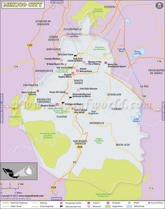 map of mexico city httptravelmap8commap of