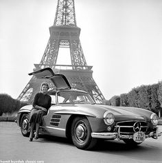 Presentation of the Mercedes 300 SL circa 1953, Paris.