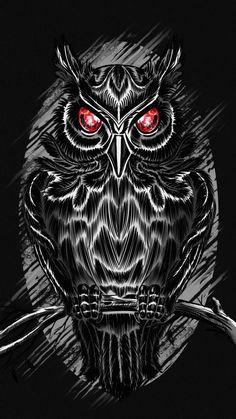 Black Owl iPhone Wallpaper - iPhone Wallpapers