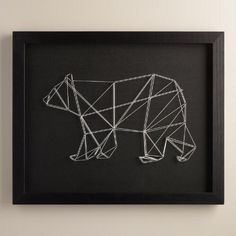 One of my favorite discoveries at WorldMarket.com: Geo Bear String Wall Art by Christine Tong