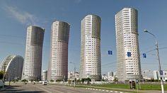 Collective housing - #architecture #googlestreetview #googlemaps #googlestreet #russia #moscow #brutalism #modernism