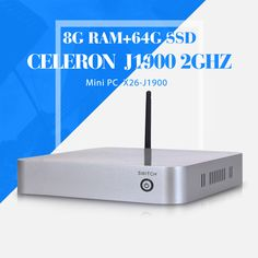 celeron J1900 8g ram+64g ssd+wifi cheap industrial computer with fan latest mini computer industrial Panel PC