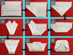 Folding Flat Diapers: The Airplane Fold Flache Windeln falten: Die Flugzeugfalte Prefold Cloth Diapers, Cotton Diapers, Reusable Diapers, Baby Diaper Bags, Diaper Bag Backpack, Diaper Babies, Couches, Baby Boys, Diy Clothes Life Hacks