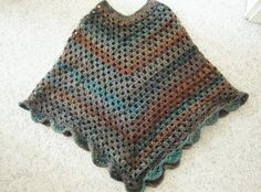Have you ever made a crocheted poncho?  If you are a beginner, you can actually make this!  It is beautiful and worthwhile.