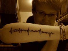 this too shall pass tattoo. Heartbeat tattoo.