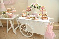 Ballerina themed birthday party via Kara's Party Ideas KarasPartyIdeas.com #ballerinaparty #balletparty #pinkballerina Cake, decor, supplies, desserts, banners, printables, and more! (9)