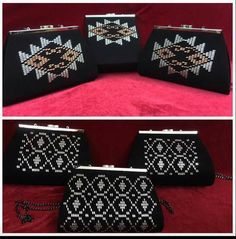 This Pin was discovered by Mur Palestinian Embroidery, Bargello, Louis Vuitton Monogram, Elsa, Gift Wrapping, Shoulder Bag, Pattern, Diy Bags, Clutches