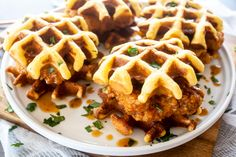 Chipotle Honey Chicken and Waffle Sliders by Meseidy