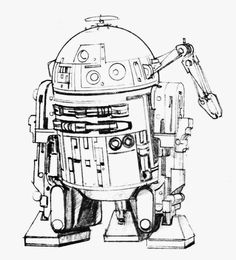 Ralph McQuarrie's design sketches for R2-D2. #LogoCore