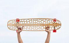 Skateboard deck by Voronoi Skateboard Organico Longboard Design, Skateboard Design, Skateboard Decks, Magazine Design, Graphic Design Magazine, Longboards, Cnc, Skate Decks, Skateboards