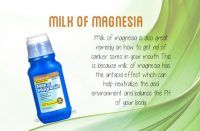 how to get rid of canker sores - milk of magnesia