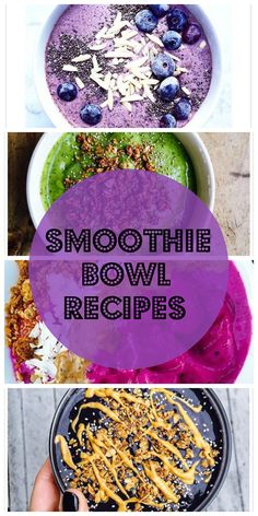 Ever made a smoothie bowl? If not you are missing out on a very healthy breakfast or post workout meal. Here are some amazing and easy recipes!