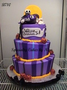 Image Detail For  Cake # B710 Nightmare Before Christmas Butter Cream Topsy  Turvy Cake .