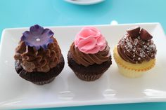 The 3 cupcakes we had at Blossom in Siem Reap, chocolate mousse, salted caramel and coconut