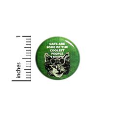 """1"""" Pinback Button Cats Are The Coolest Diesepunk Steampunk Goggles Funny #7-12"""