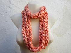 Crochet Scarf infinity    Necklace Colorful  Long  winter by nurlu, $14.00