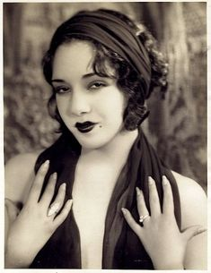 VINTAGE BEAUTY: Mexican actress Lupe Velez in marquise diamonds...