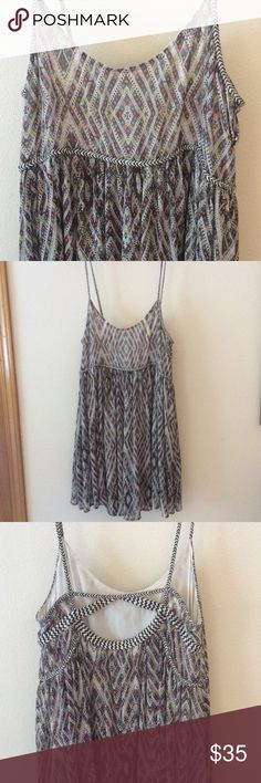 """FP Periscope babydoll summer dress This is a lose fitting short summer dress. I'm 5'4"""" and it hits me right above my knees. Perfect for hot summer days and outdoor concerts! Fully lined. So cute! Free People Dresses Mini"""