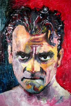 Jimmy Cagney - mixed media - 28x40 inches - Original art by Marcelo Neira #JamesCagney #art #hollywood #MovieStar #JimmyCagney