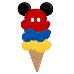 Disney ice cream cone SVG cutting file and clipart image