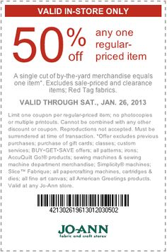 65 best couponsfreebiesdiscounts images on pinterest households joann 50 off printable coupon fandeluxe Image collections