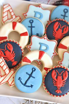 Nautical Sugar cookies
