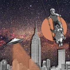 Cool kids never die @miodins  collage illustration