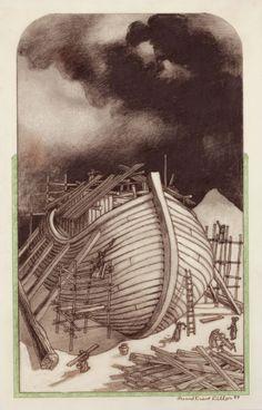 LEO AND DIANE DILLON (American, b. 1933). Noahs Ark, 1989.Pencil | Lot #78031 | Heritage Auctions